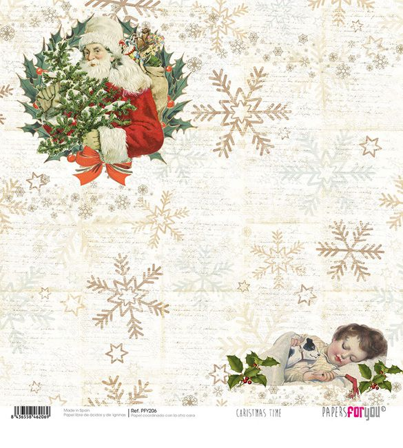 Papel Scrap Christmas Time 206