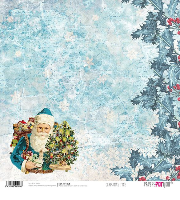 Papel Scrap Christmas Time 208
