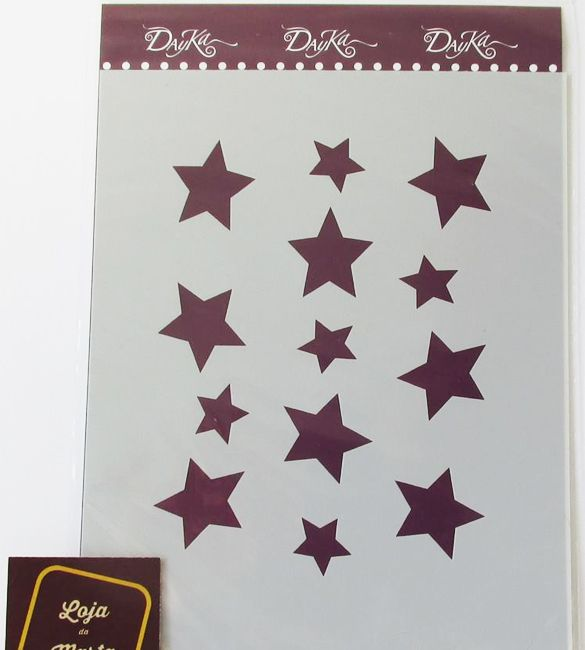 Stencil Dayka D-00106 A5  estrelas