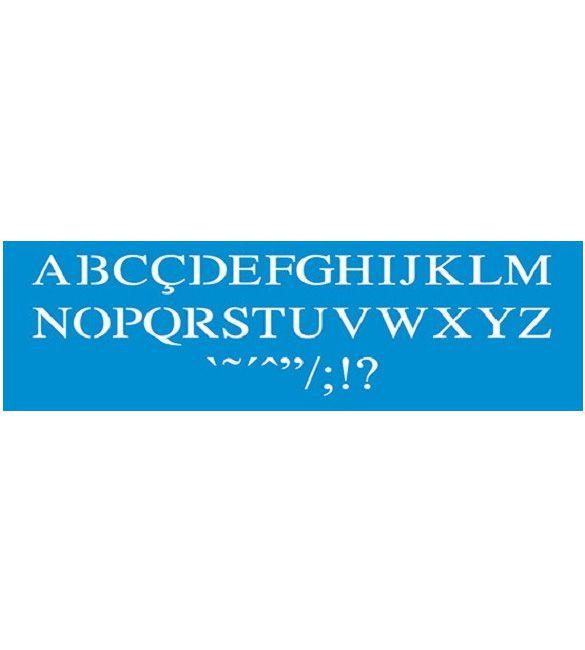 Stencil alfabeto
