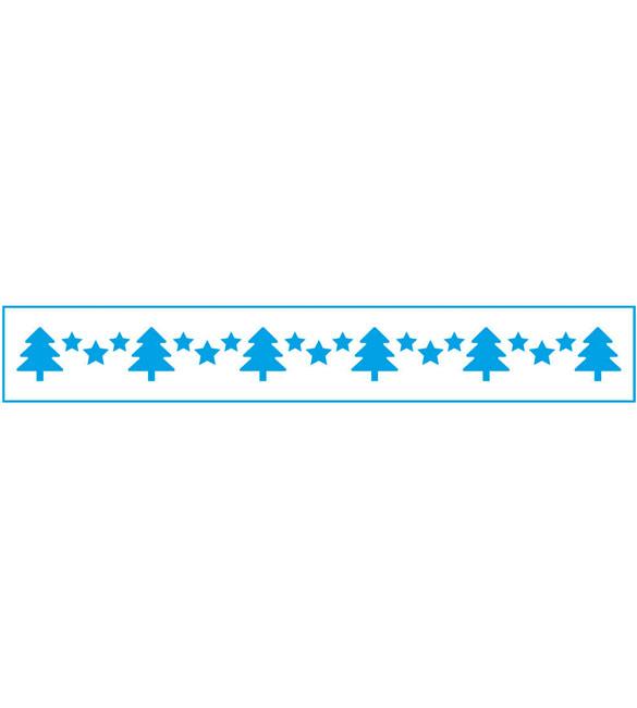 Stencil Pinheiros de Natal e Estrelas