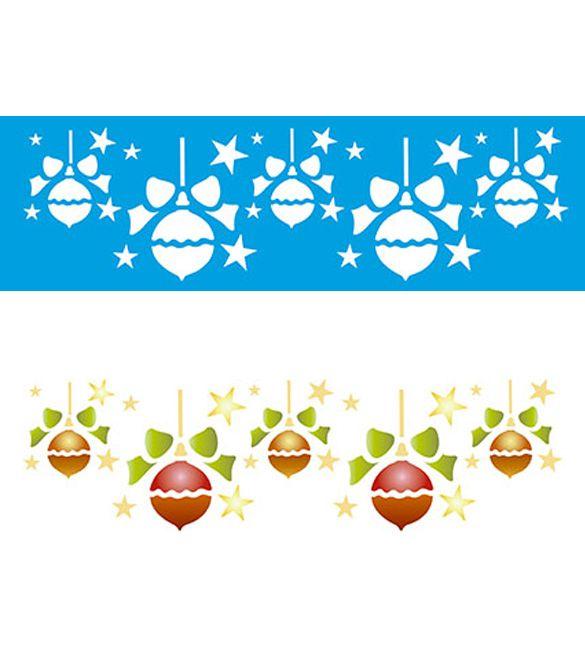 Stencil Bolas de Natal