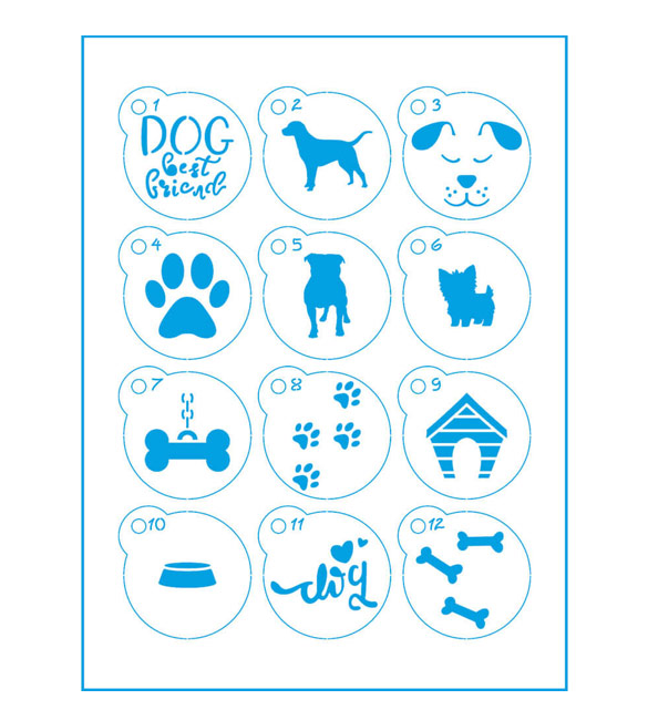 Mini Stencil Cães