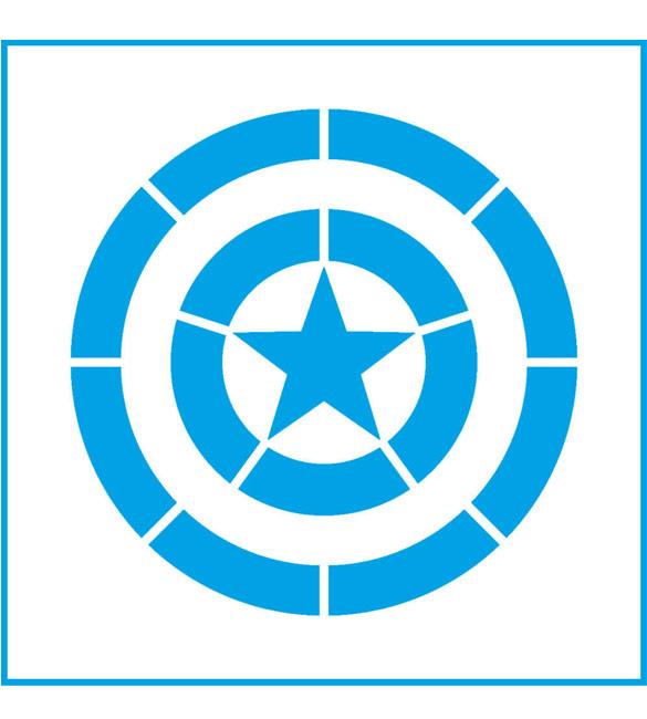 Stencil Super Heroi Capitão Américo