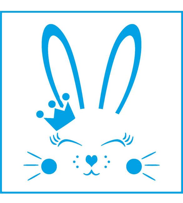Stencil carinha de coelho