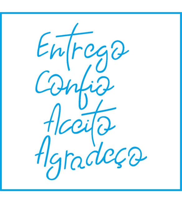Stencil com palavras
