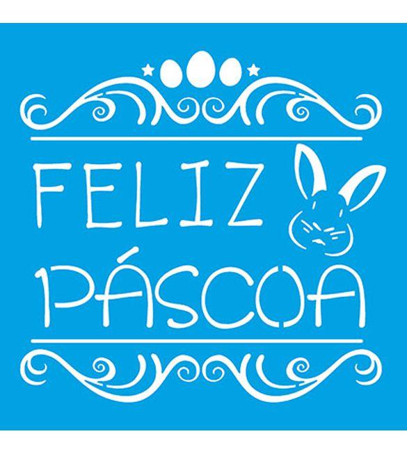 Stencil Feliz Páscoa