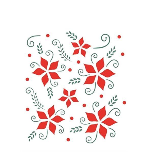 Stencil OPA 874 Flores Natalícias