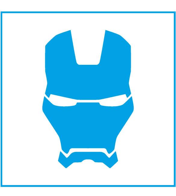 Stencil Super Herói Homem de Ferro