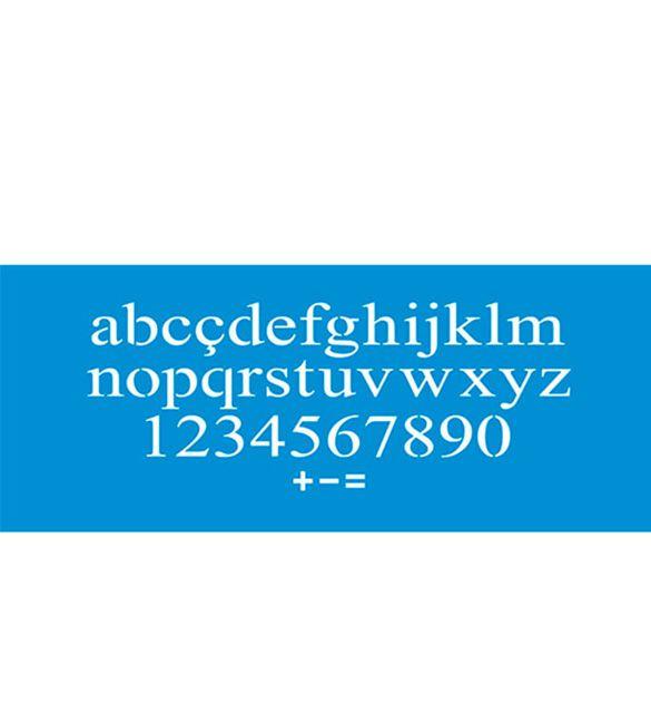 Stencil Litoarte Alfabeto STG-052