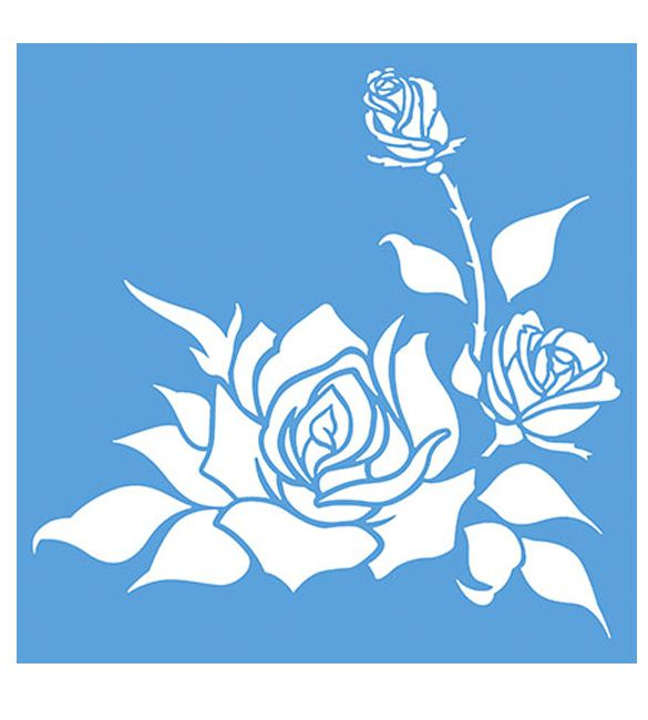 Stencil Botões de Rosa
