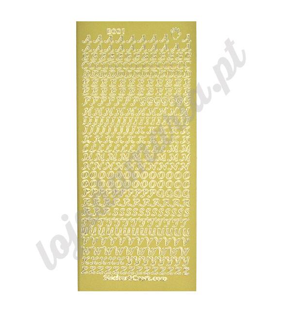 Sticker Craft Alfabeto Dourado