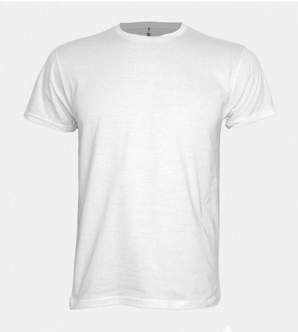 T-shirt branca de adulto
