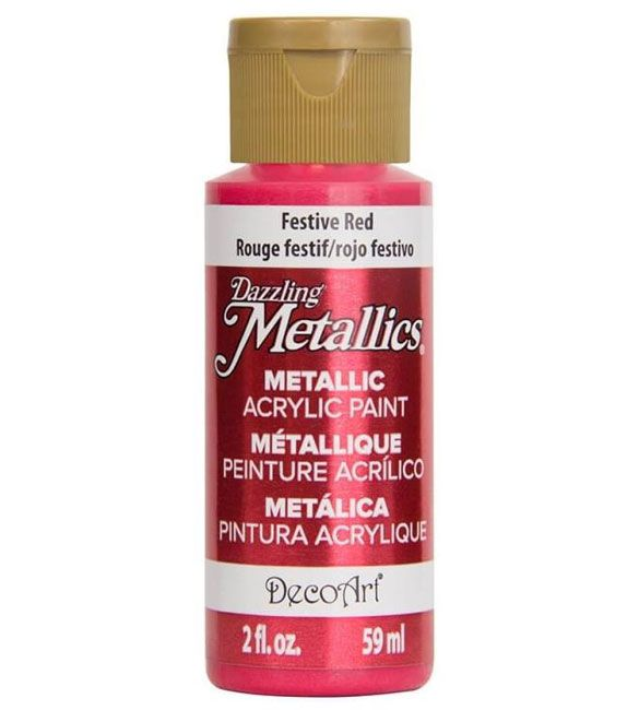 Tinta Decoart FESTIVE RED Metálica