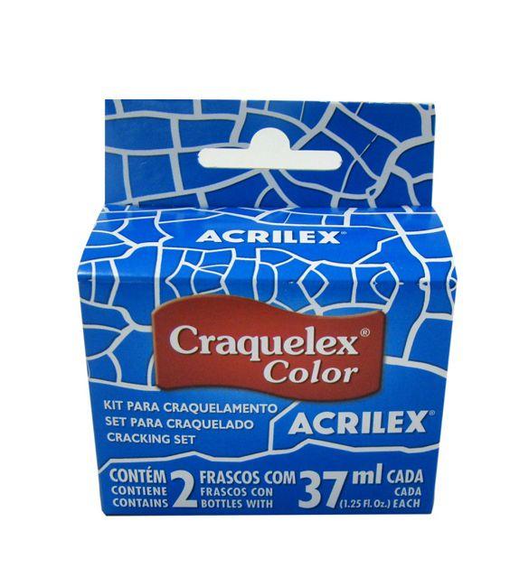 Tinta Craquele Acrilex azul torquesa