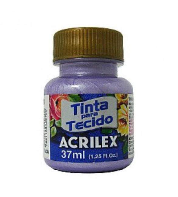 TINTA PARA TECIDO ACRILEX 37ML METAL LILAS