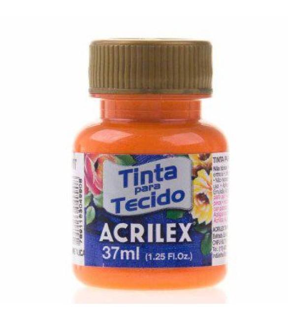 TINTA PARA TECIDO ACRILEX 37ML METAL LARANJA