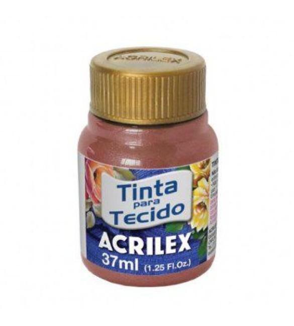 TINTA PARA TECIDO ACRILEX 37ML METAL CASTANHO