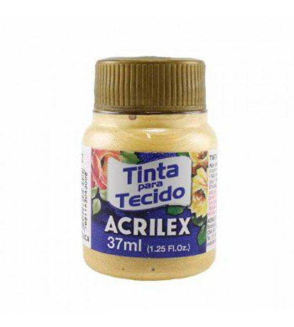 TINTA PARA TECIDO ACRILEX 37ML METAL MARFIM