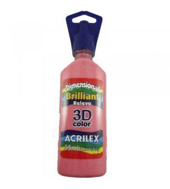 DIMENSIONAL ACRILEX BRILHANTE relevo 3D Rosa Chá