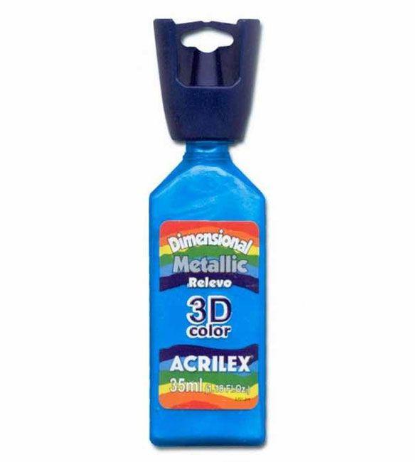 DIMENSIONAL ACRILEX METALICA relevo 3D AZUL CARIBE