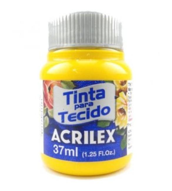 TINTA PARA TECIDO ACRILEX 37ML AMARELO OURO