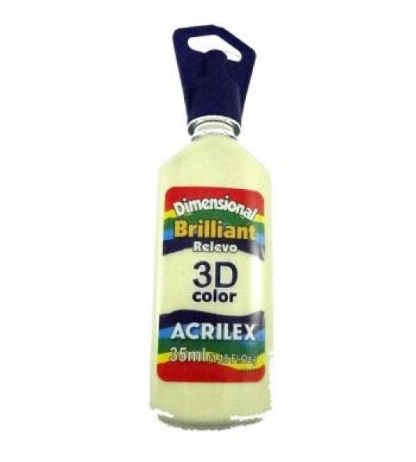 DIMENSIONAL ACRILEX BRILHANTE Relevo 3D Marfim 529