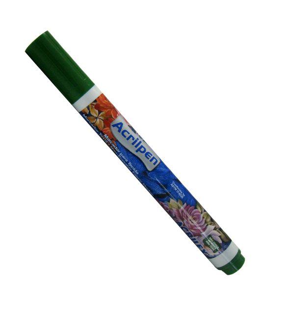 Marcador de Tecido Acrilpen Acrilex  Verde musgo