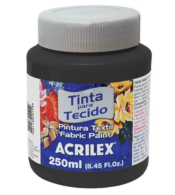 TINTA PARA TECIDO ACRILEX 250ML PRETO