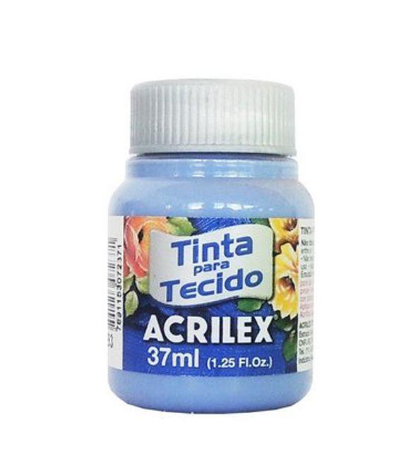 TINTA PARA TECIDO ACRILEX 37ML AZUL ARDOSiA