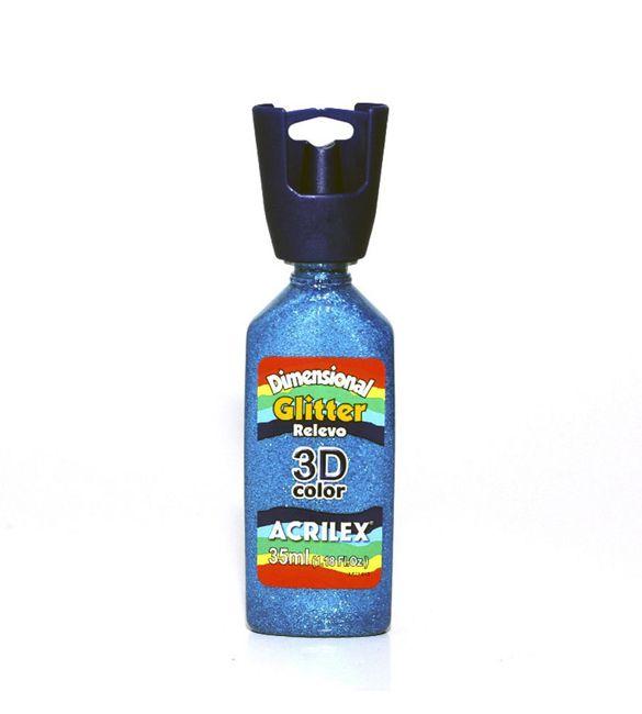 Dimensional Glitter Acrilex Azul turquesa