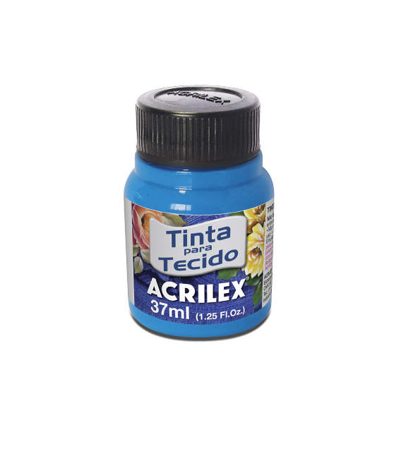TINTA PARA TECIDO ACRILEX FLUORESCENTE 37ML Azul