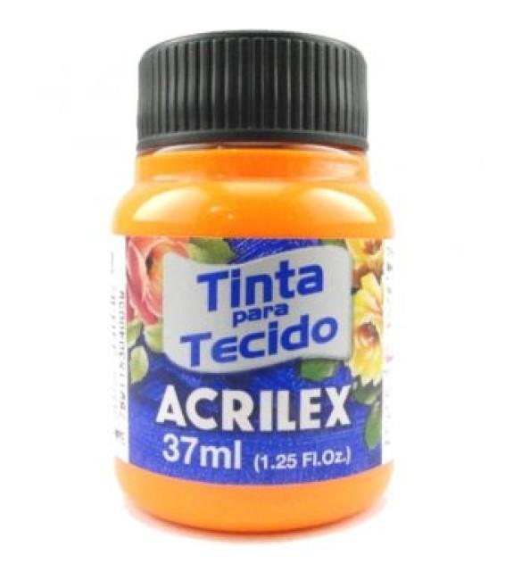 TINTA PARA TECIDO ACRILEX FLUORESCENTE 37ML AMARELO OURO